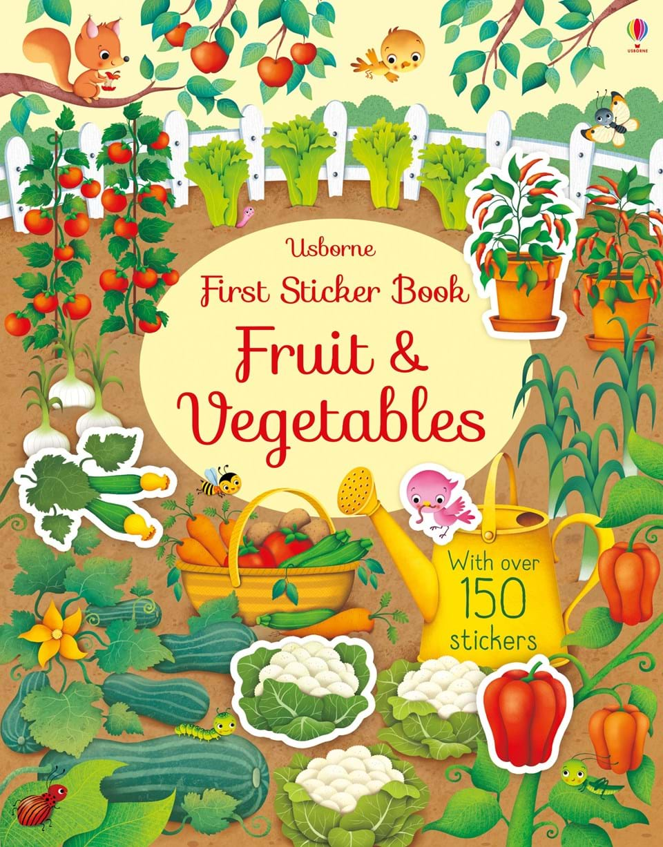first-sticker-book-fruits-and-vegetables
